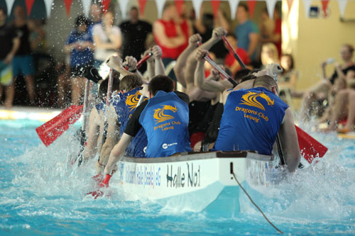 1. Leipziger Drachenboot Indoorcup, Foto: Dragons Club Leipzig